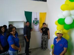 Bandeira de Arapiraca em um evento com o espírito e o povo da cidade
