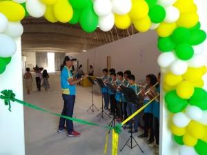 A música ficou por conta da banda da Escola Municipal Maria Cleonice Barbosa