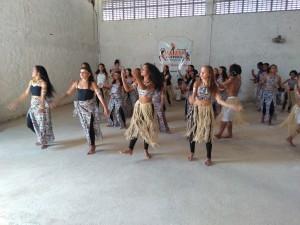 A dança fez parte da festa com o empreendimento Raízes Culturais