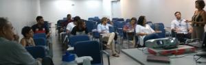 Reunião com técnicos da Caixa Econômica responsáveis pelo acompanhamento do Projeto DIST Brisa do Lago com pessoal do IADH