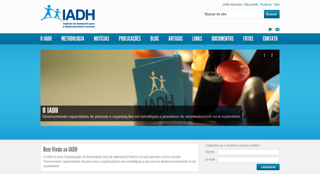 Cara nova para as mídias do IADH