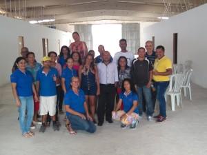 Registro da passagem dos representantes dos residenciais em Rio Largo por Arapiraca